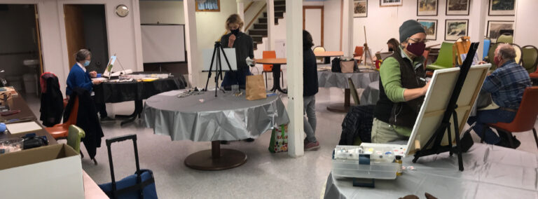Oil Painting class at the Legion Hall
